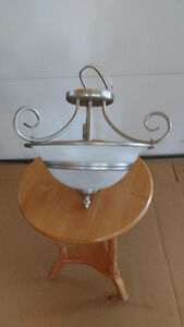 For Sale:  Brushed Nickel Ceiling Light Fixture