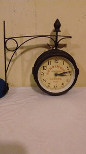 Double sided wall or post clock