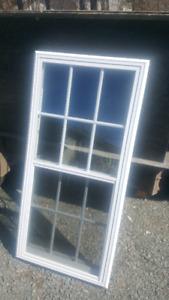 """Venting door glass insert w grills. 23"""" x 48"""""""
