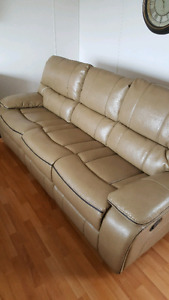 Couch & Love seat (real leather)
