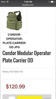Vest Condor Operator OD Green  Negotiable PAINTBALL