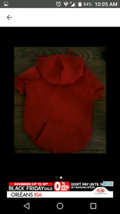 Red Jersey Dog Sweater (fits M) $15 obo