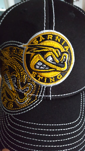 Sarnia Sting hat signed by Pavel Zachary and Jakob Chychrun