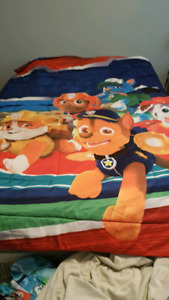 Paw Patrol comforter and curtains