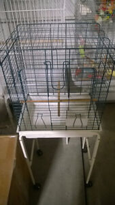 Selling Bird Cage with Stand and Wheels