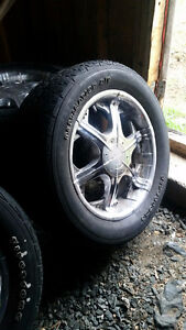 4 rims/tires to trade for ATV