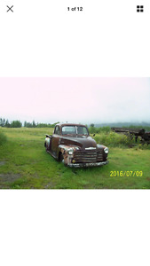I'm looking for a 1950-1955 Chev 3100 Pickup PROJECT