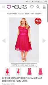 Pink Plus Size Dress *new with tags* size 22/24