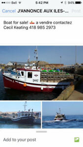 Fishing Boat for sale, Ready at end of season