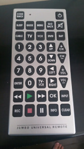 Jumbo Universal Remote excellent working condition