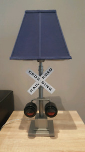 Pottery Barn Train Lamp