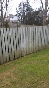 Free wood fence