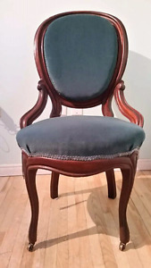 Antique Balloon-Back Solid Wood Chairs
