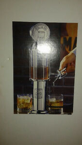 "Fill-Er-Up"" Silver Liquor/Beer/Water/Juice Dispenser"