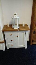 Rustic Pine White Cupboard - Handmade
