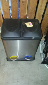 Garbage bin  steel double