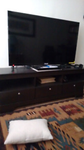 "Rca 55"" led and tv stand"