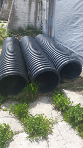 Drain Culverts for Farm - 18 Inch - Plastic - 3 Lengths