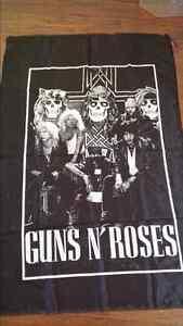 Guns n' Roses concert banner flag