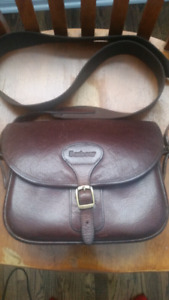 Barbour leather bag