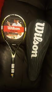 NEW WILSON tennis racquet and case