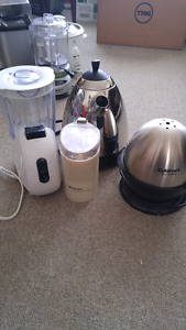 blender coffee bean grinder egg cooker tea kettle