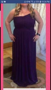 Majenta bridesmaid dress