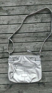 Metallic purse-- like new ! AND faux snakeskin vintage look purs