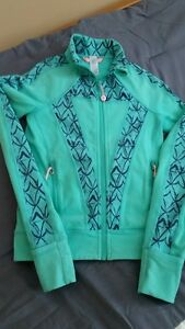 Ivivva zip up jacket- teal size 8