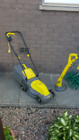 Challenge mower and strimmer