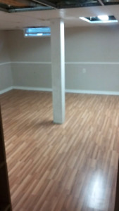CLEAN/FINISHED BASEMENT/ROOM FOR RENT