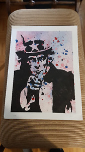 Uncle Sam Wants YOU Original ART United States of American USA