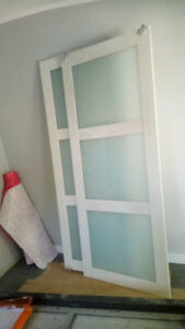 SLIDING DOORS - frosted glass inserts