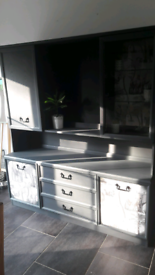 G plan sideboard wall unit Upcycled grey