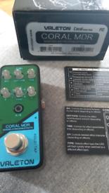 Valeton coral mdr modulation delay reverb fx pedal