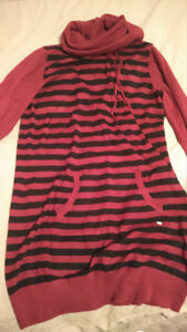 Point Zero Striped Tunic/Long Sweater NWOT