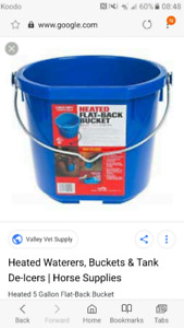 Looking for heated buckets