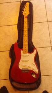 Blackdog Electric Guitar + Case. Like New.