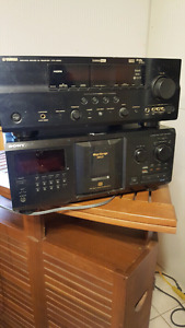 Yamaha Receiver and Sony 300 CD Player