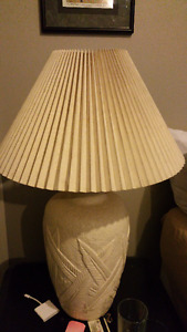 White Plaster Textured Tables Lamps - A Pair  REDUCED TO SELL!!!