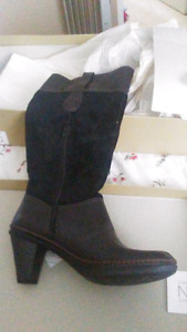 Size 11 brand new black leather boots