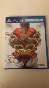 Brand new sealed Street fighter 5 ps4
