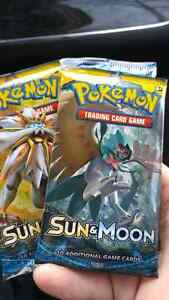 Pokemon Sun and moon booster packs