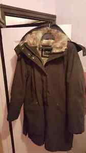 Women's Super Warm black winter Parka RW&CO with Fur hood