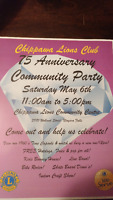 Chippawa Lions 75th Anniversary Vendors and Crafters
