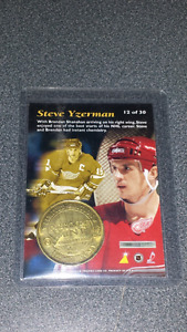 Steve Yzerman Pinnacle Coin Card 12 of 39