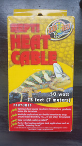 Reptile heat cable 23 feet 50 watt BRAND NEW IN BOX Zoo Med