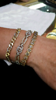 Lost my gold and white gold diamond bracelet.