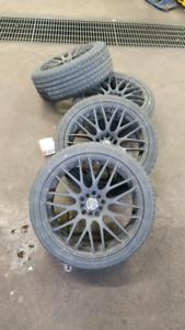 5x100 MSR Rims w/ 225 40Z R18 tires