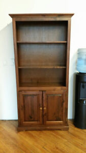 FREE! Solid Wood Bookcases & small cabinet
